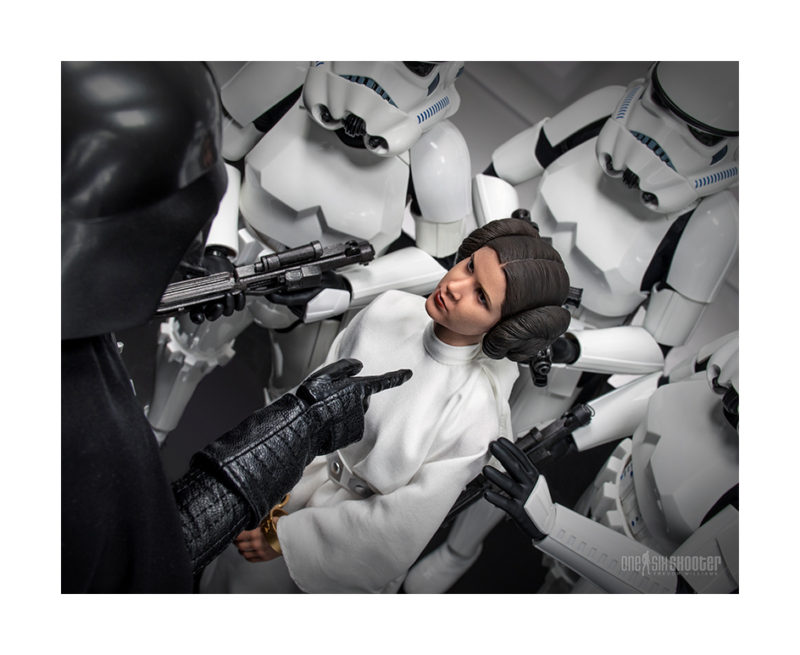 Princess Leia, Star Wars, 1/6 action figure photography